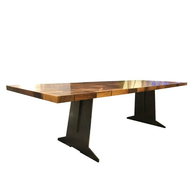 Square Wood Table Squared Blocks Of Solid Wood Processed Regarding Best And Newest Nolea 29.53'' Pine Solid Wood Dining Tables (Photo 3 of 15)
