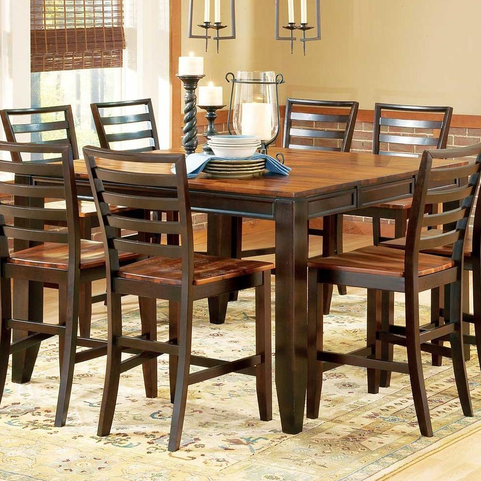 """Steve Silver Abaco Ab500Pt 54"""" Square Solid Acacia Wood With Regard To 2017 Mciver Counter Height Dining Tables (View 4 of 15)"""