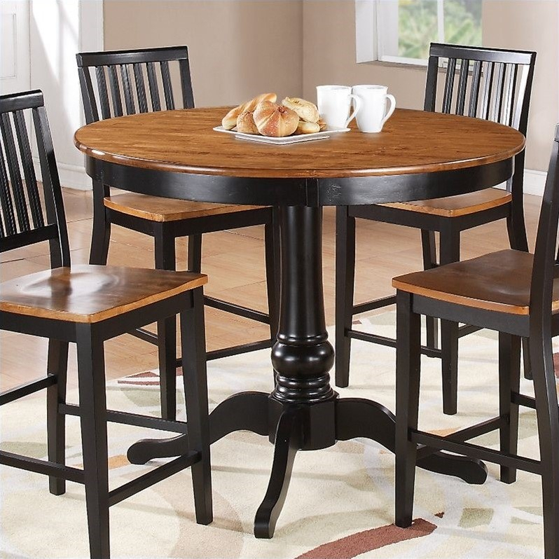 Steve Silver Company Candice Round Counter Height Dining With Regard To Recent Desloge Counter Height Trestle Dining Tables (View 3 of 15)