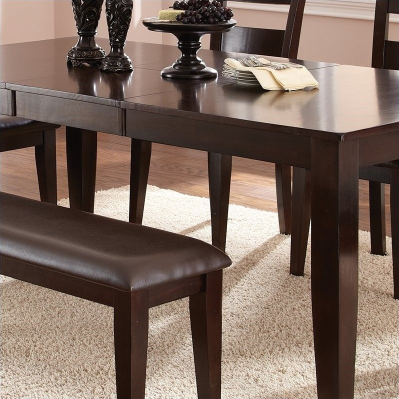 Steve Silver Company Victoria Rectangular Dining Table Pertaining To Recent Warnock Butterfly Leaf Trestle Dining Tables (View 7 of 15)
