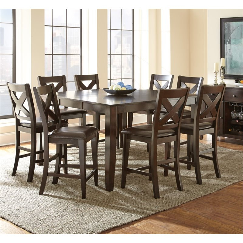 Steve Silver Crosspointe Counter Height Dining Table With Regarding 2018 Dallin Bar Height Dining Tables (View 8 of 15)