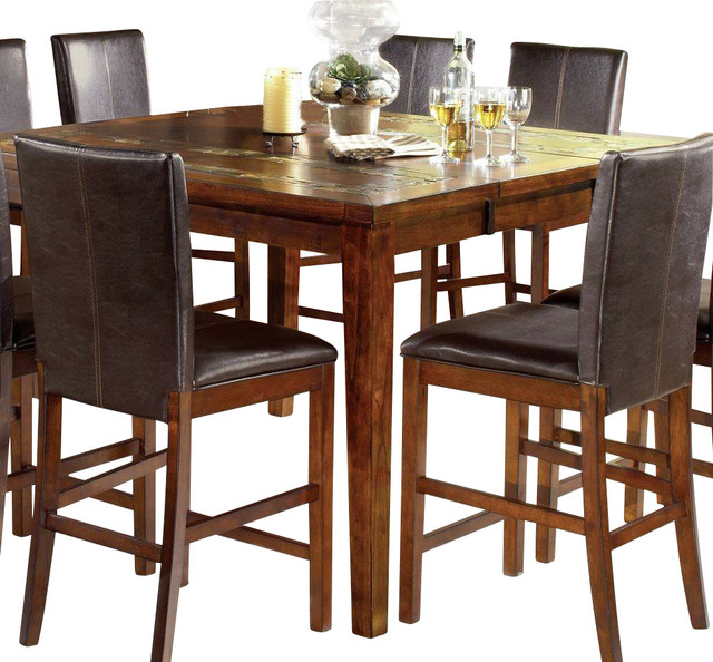 Steve Silver Davenport Rustic 36 Inch Square Counter Pertaining To Current Montauk 36'' Dining Tables (View 13 of 15)