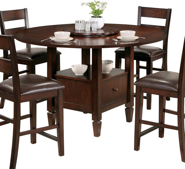 Steve Silver Gibson Casual 42 Inch Round Counter Height Intended For Most Up To Date Darbonne 42'' Dining Tables (View 14 of 15)