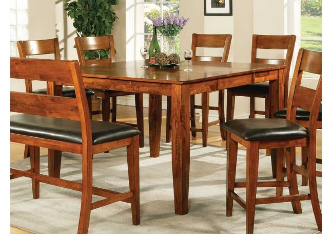 Steve Silver Mango Counter Height Table In Light Oak For Most Recent Mccrimmon 36'' Mango Solid Wood Dining Tables (View 14 of 15)