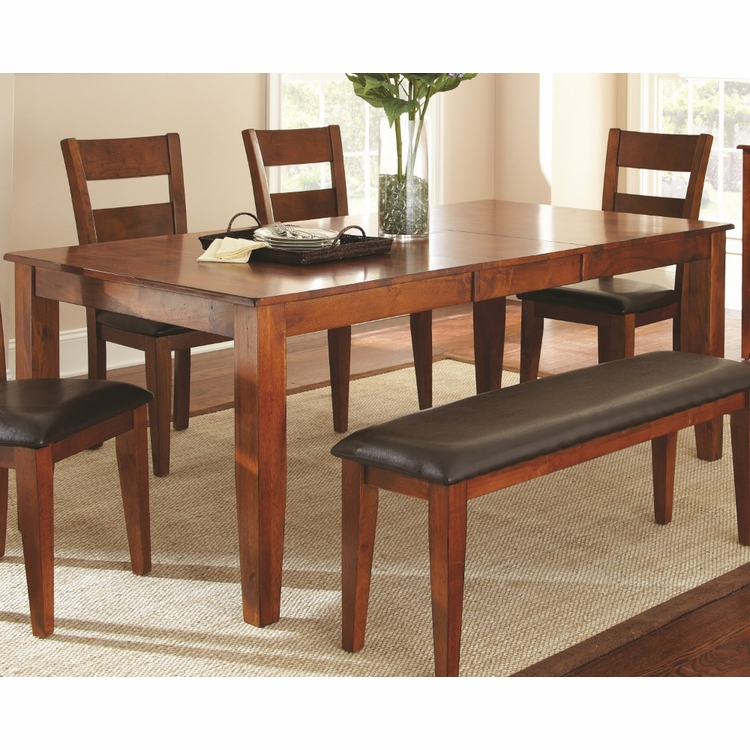 """Steve Silver – Mango Dining Table With 18"""" Butterfly Leaf Intended For Latest Warnock Butterfly Leaf Trestle Dining Tables (View 4 of 15)"""