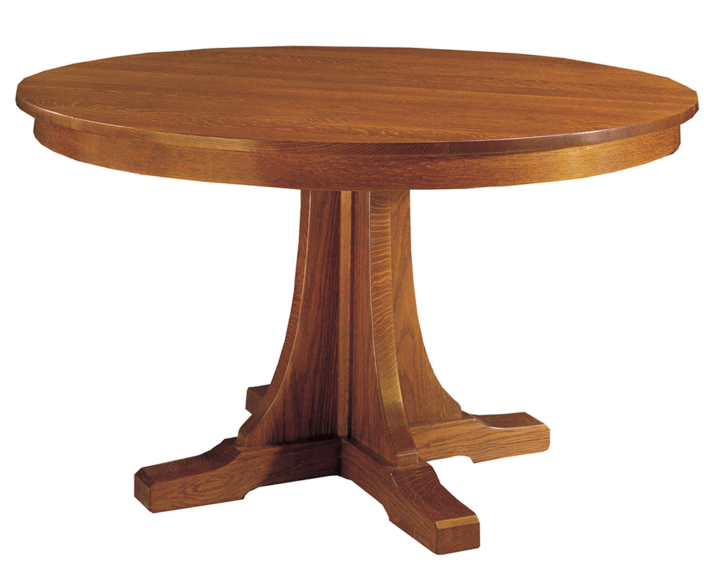 Stickley Round Pedestal Dining Table – Flegel'S Home With Regard To Most Recently Released Pedestal Dining Tables (View 6 of 15)