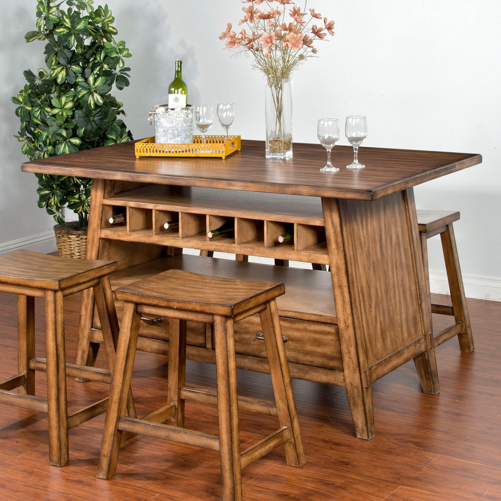 Sunny Designs Cornerstone Dining Table With Storage Throughout Recent Neves 43'' Dining Tables (View 11 of 15)