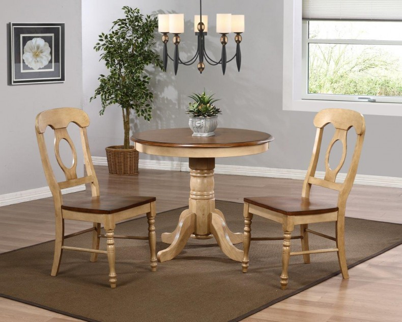 Sunset Trading Brook 3 Piece 36 Inch Round Dining Set With With Regard To Most Current Hitchin 36'' Dining Tables (View 9 of 15)