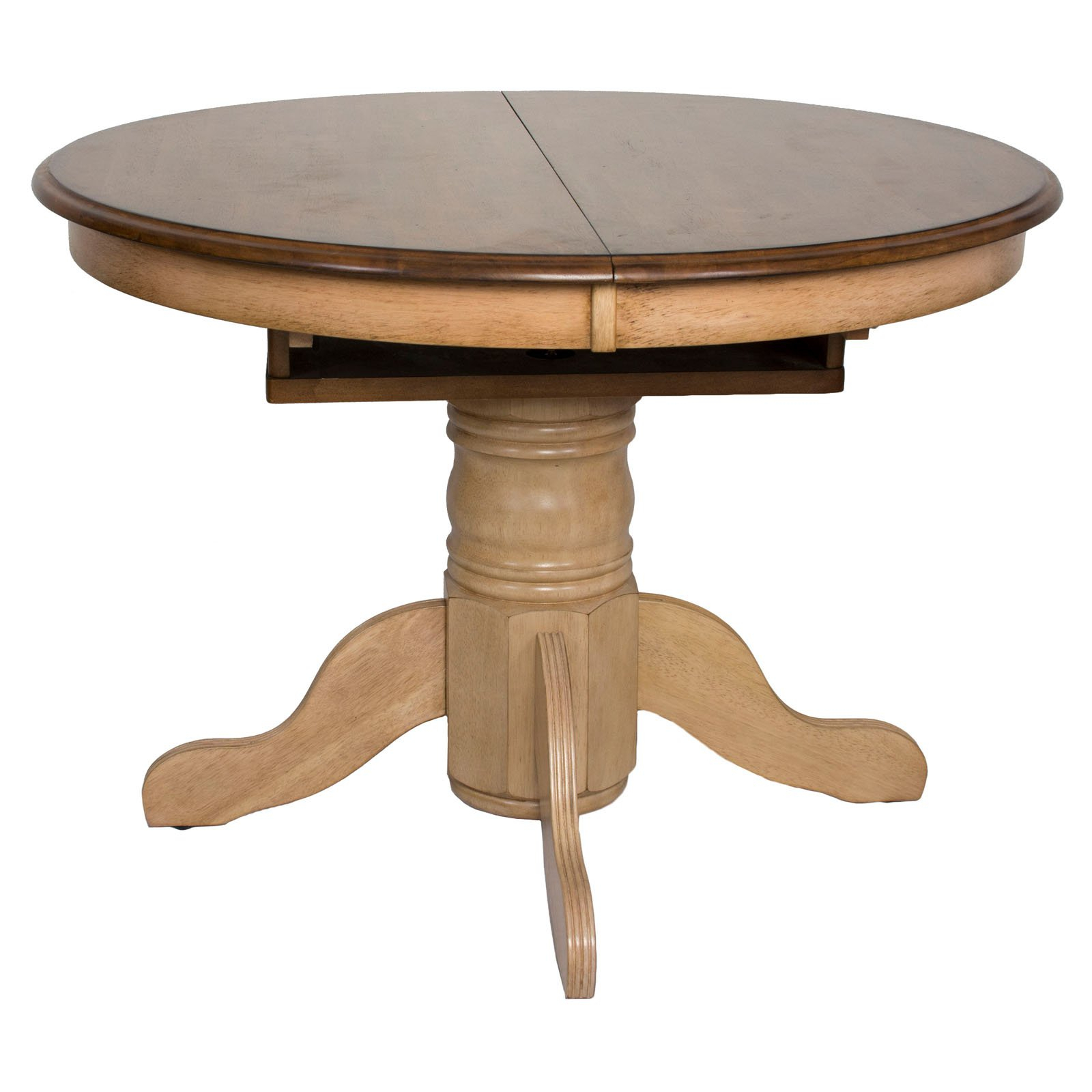 Sunset Trading Brook Round Or Oval Extension Dining Table With Regard To Most Recent Neves 43'' Dining Tables (View 5 of 15)