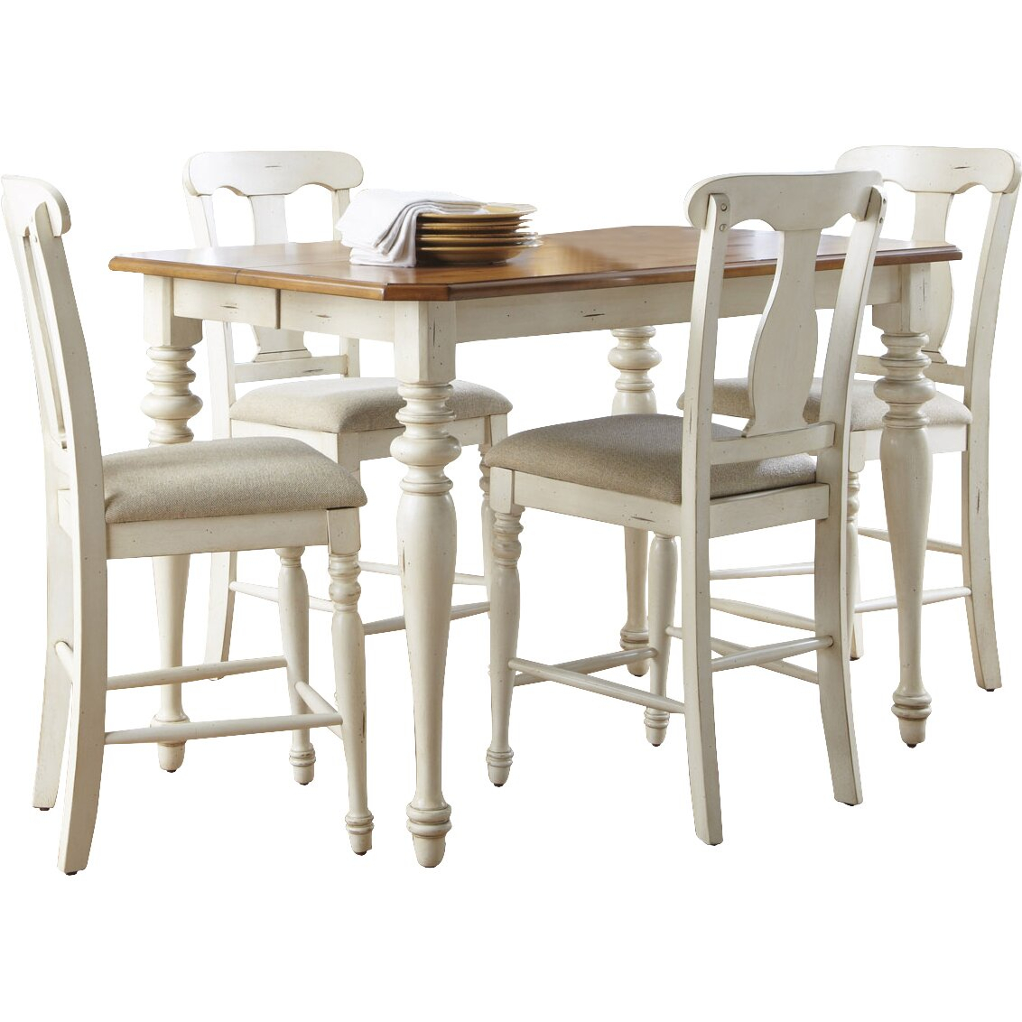 Sutera Counter Height Extendable Dining Table | Wayfair Pertaining To Most Popular Counter Height Extendable Dining Tables (View 6 of 15)