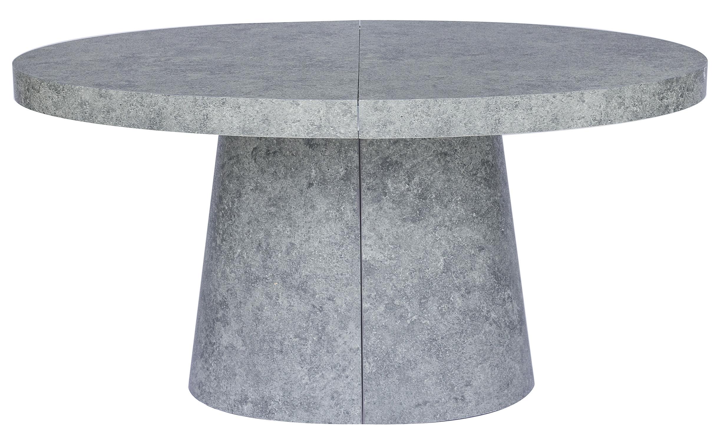 "Table À Manger Ovale Extensible Bois Effet Béton Aleez Intended For 2018 Mode 72"" L Breakroom Tables (View 11 of 15)"