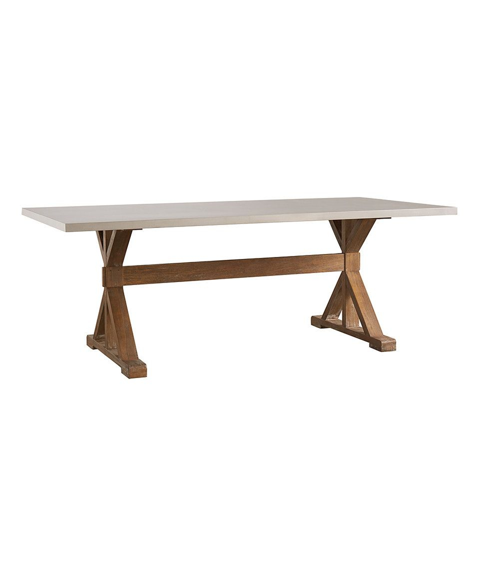 Take A Look At This Homebelle Natural Pine Trestle Base With Regard To Latest Finkelstein Pine Solid Wood Pedestal Dining Tables (View 8 of 15)