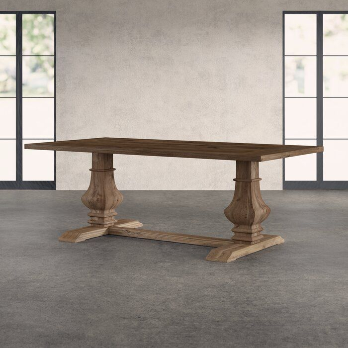 Tekamah Pine Solid Wood Dining Table In 2020 (With Images With Current Katarina Extendable Rubberwood Solid Wood Dining Tables (View 12 of 15)