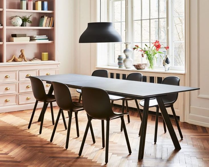 The Cph 30 Extendable Table, Seen Here With Neu Chairs And With Most Recently Released Neves 43'' Dining Tables (View 15 of 15)