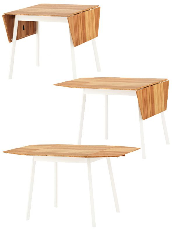 """The Expanding Ikea Ps 2012 Table Can Seat From Two To Four With Regard To Most Recently Released Dionara 56"""" L Breakroom Tables (Photo 7 of 15)"""
