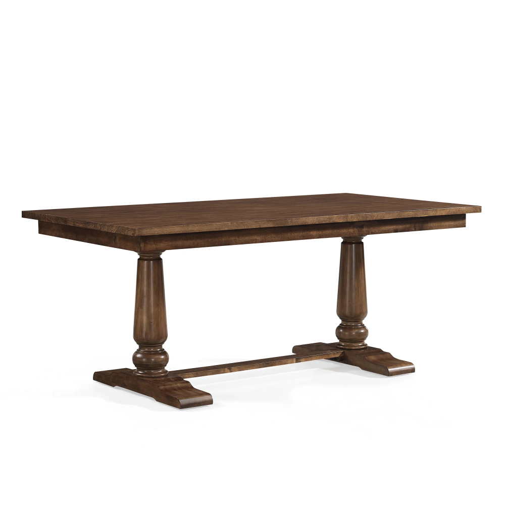 The Gray Barn Farmhouse Oak Pedestal Dining Table With Regard To Best And Newest Minerva 36'' Pine Solid Wood Trestle Dining Tables (View 5 of 15)