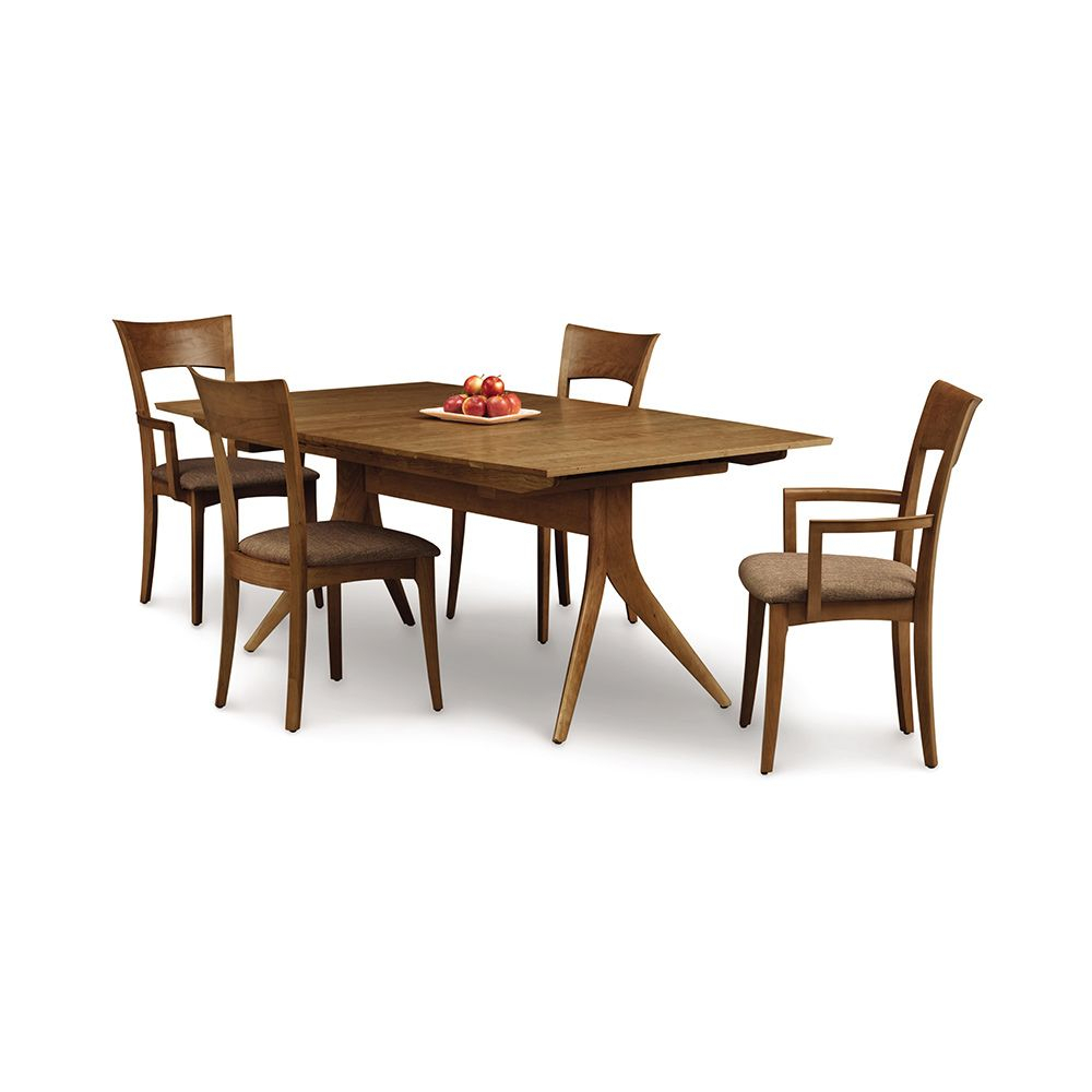 The Trestle Base On This Warwick Walnut Trestle Extension With Most Recent Aulbrey Butterfly Leaf Teak Solid Wood Trestle Dining Tables (View 5 of 15)