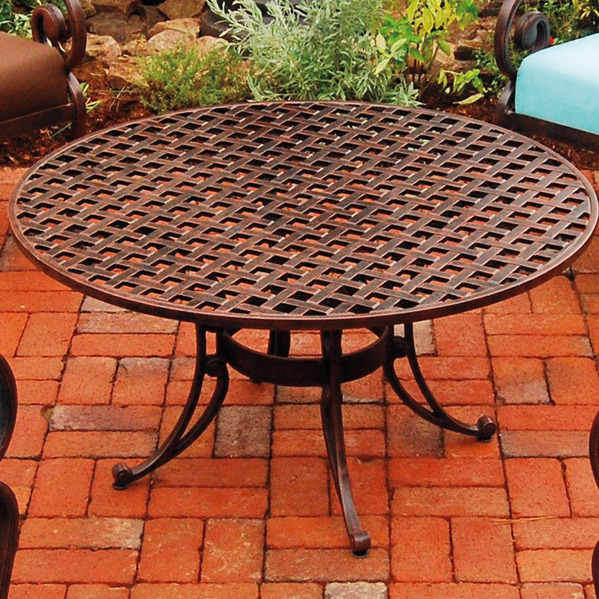 """Three Coins 38"""" Conversation Table – Iron Accents Throughout Newest Bechet 38'' Dining Tables (View 6 of 15)"""