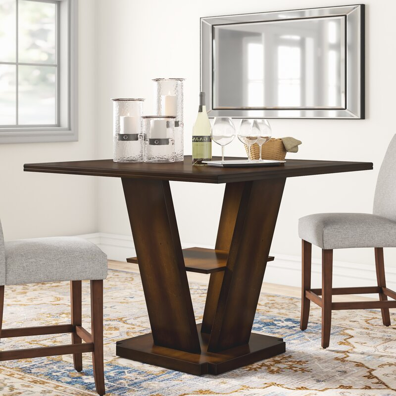 Three Posts Allenville Counter Height Dining Table Inside Recent Abby Bar Height Dining Tables (View 9 of 15)