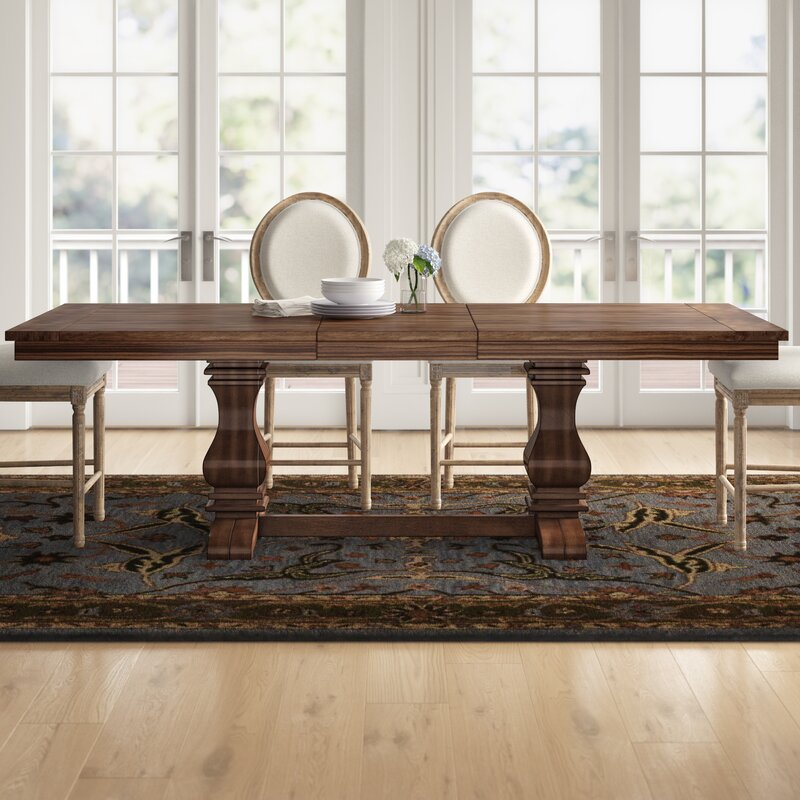 Three Posts™ Derwent Poplar Solid Wood Extendable Dining Intended For Most Recently Released Rhiannon Poplar Solid Wood Dining Tables (View 7 of 15)
