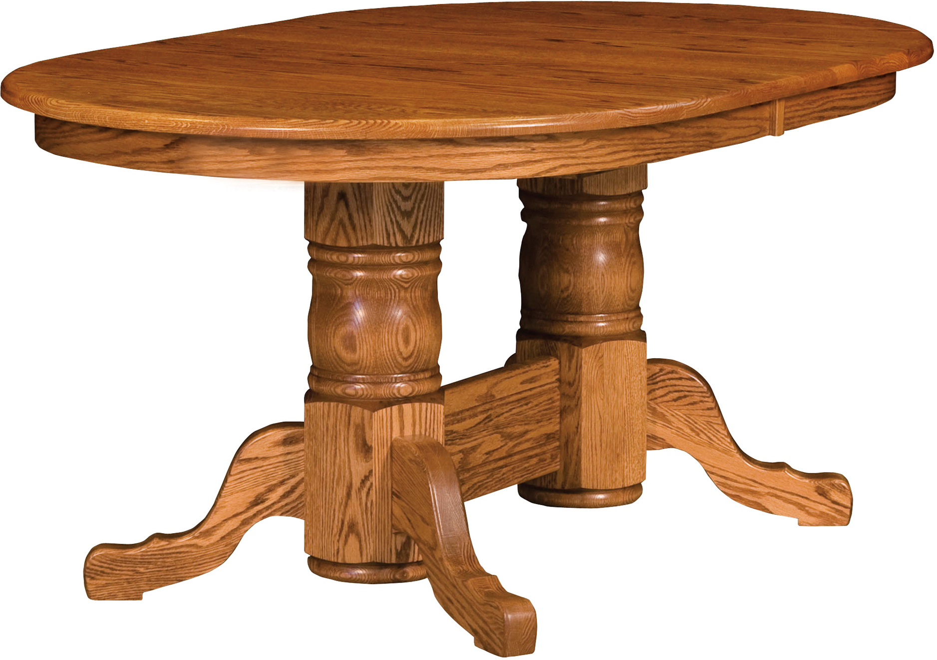 Traditional Double Pedestal Table | Brandenberry Amish With Best And Newest Sevinc Pedestal Dining Tables (View 4 of 15)