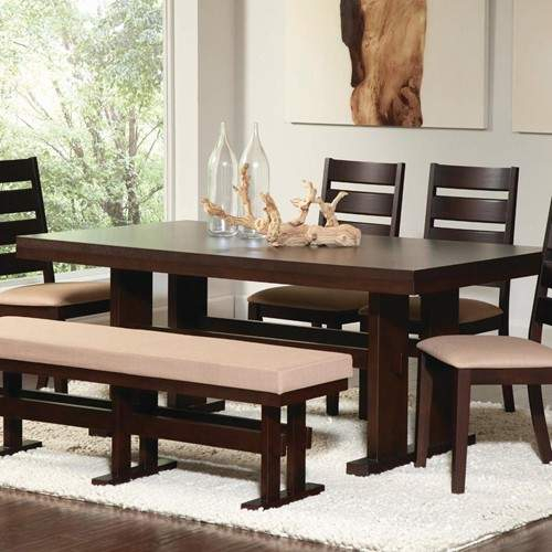 Travis Contemporary Rectangular Dining Table With Pierced Throughout Recent Dawna Pedestal Dining Tables (View 12 of 15)
