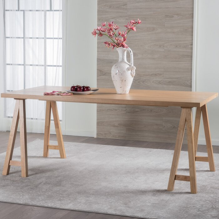"""Trent Austin Design® Dillon 35.4"""" Rubberwood Solid Wood Within Most Up To Date Clennell  (View 3 of 15)"""