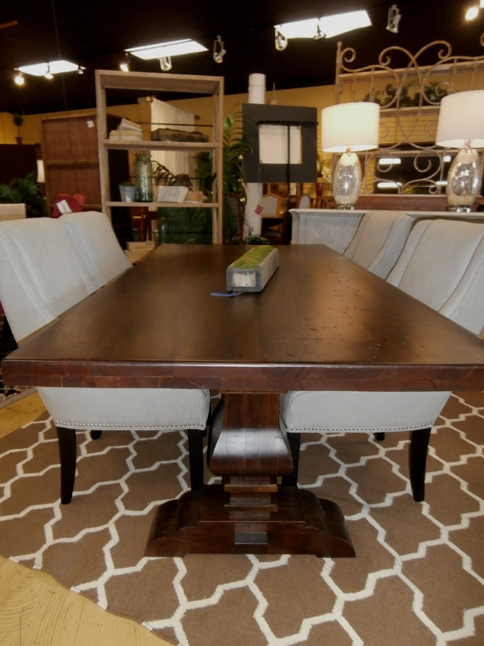 Trestle Dining Table At The Missing Piece For 2018 Keown 43'' Solid Wood Dining Tables (View 7 of 15)