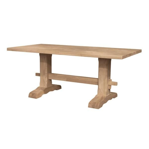 Trestle Hardwood Table (With Images)   Dining Table Inside Most Recent Minerva 36'' Pine Solid Wood Trestle Dining Tables (View 8 of 15)