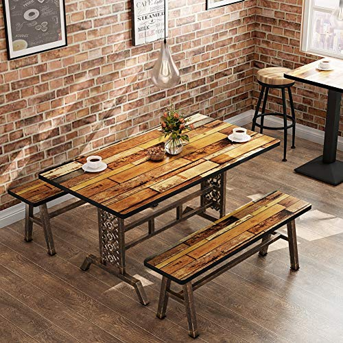 Tribesigns Dining Table With Two Benches, 3 Pieces Dining In Recent Crilly  (View 10 of 15)