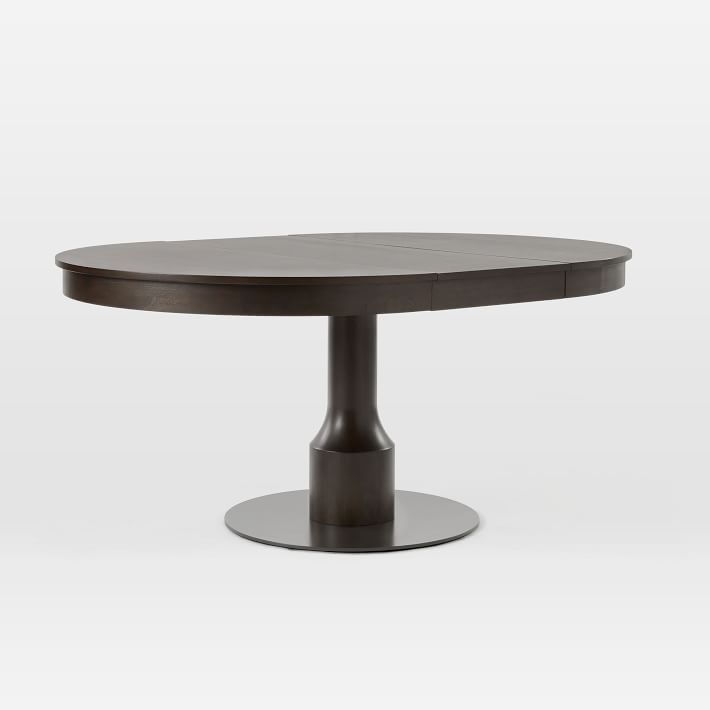Turned Pedestal Expandable Dining Table   Round Marble With Recent Canalou 46'' Pedestal Dining Tables (View 8 of 15)