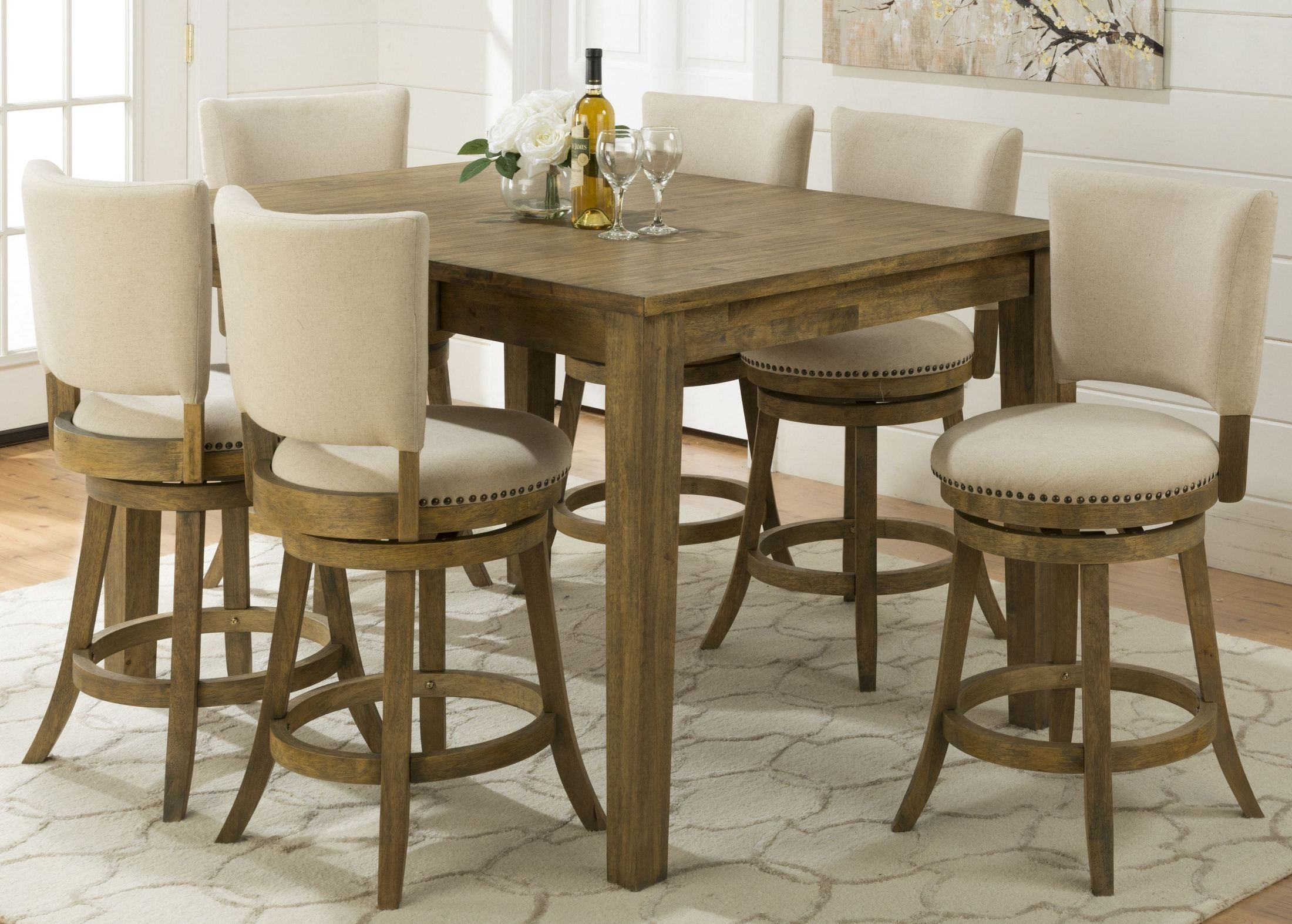 Turner'S Landing Extendable Counter Height Dining Table In Best And Newest Romriell Bar Height Trestle Dining Tables (View 7 of 15)
