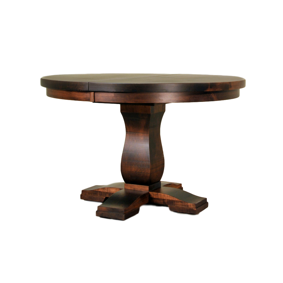 Tuscan Round Table – Fanny'S Furniture Kelowna, Bc Inside Best And Newest Gaspard Maple Solid Wood Pedestal Dining Tables (View 14 of 15)