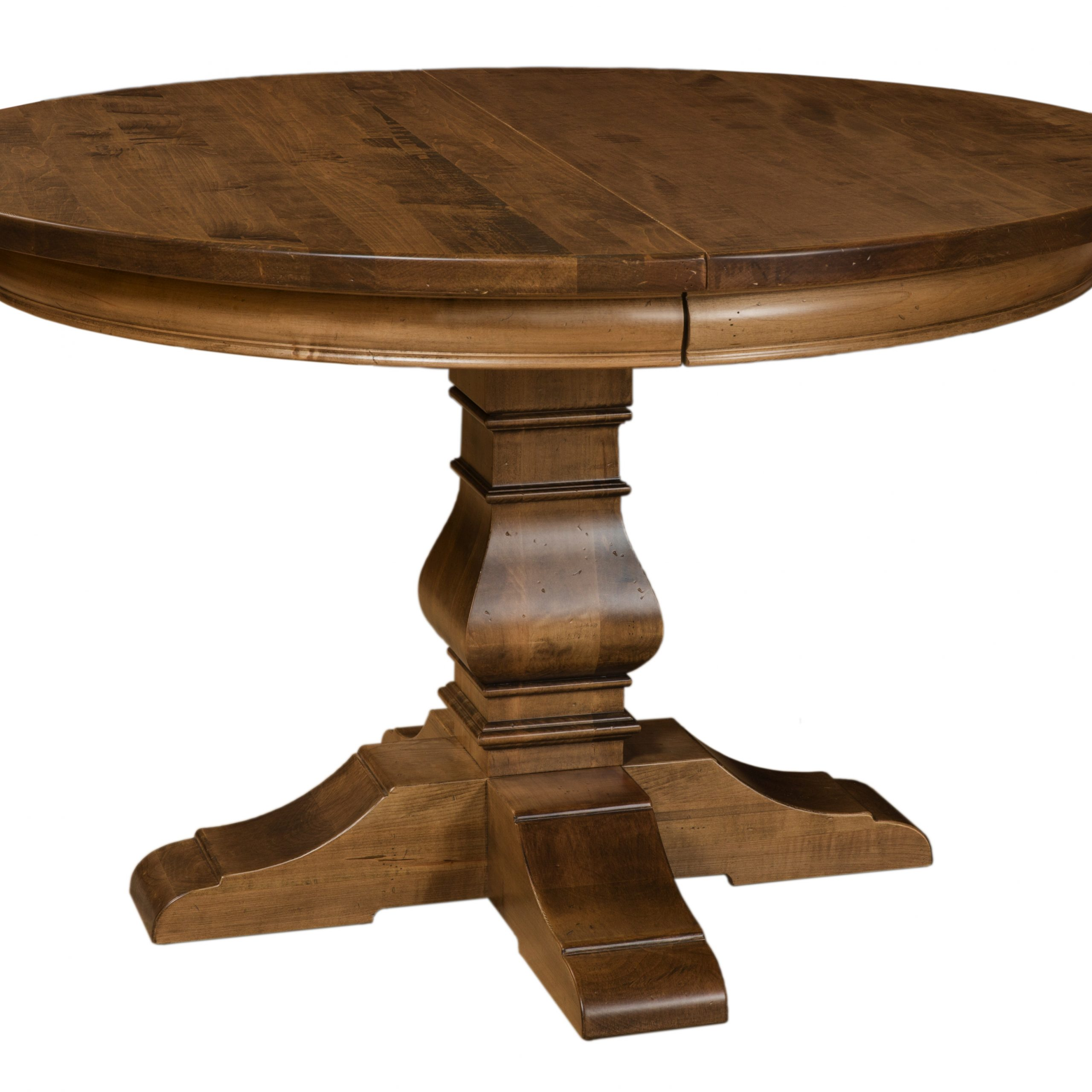 Tuscany Single Pedestal Table | Martin'S Furniture With Regard To 2017 Gaspard Extendable Maple Solid Wood Pedestal Dining Tables (View 7 of 15)