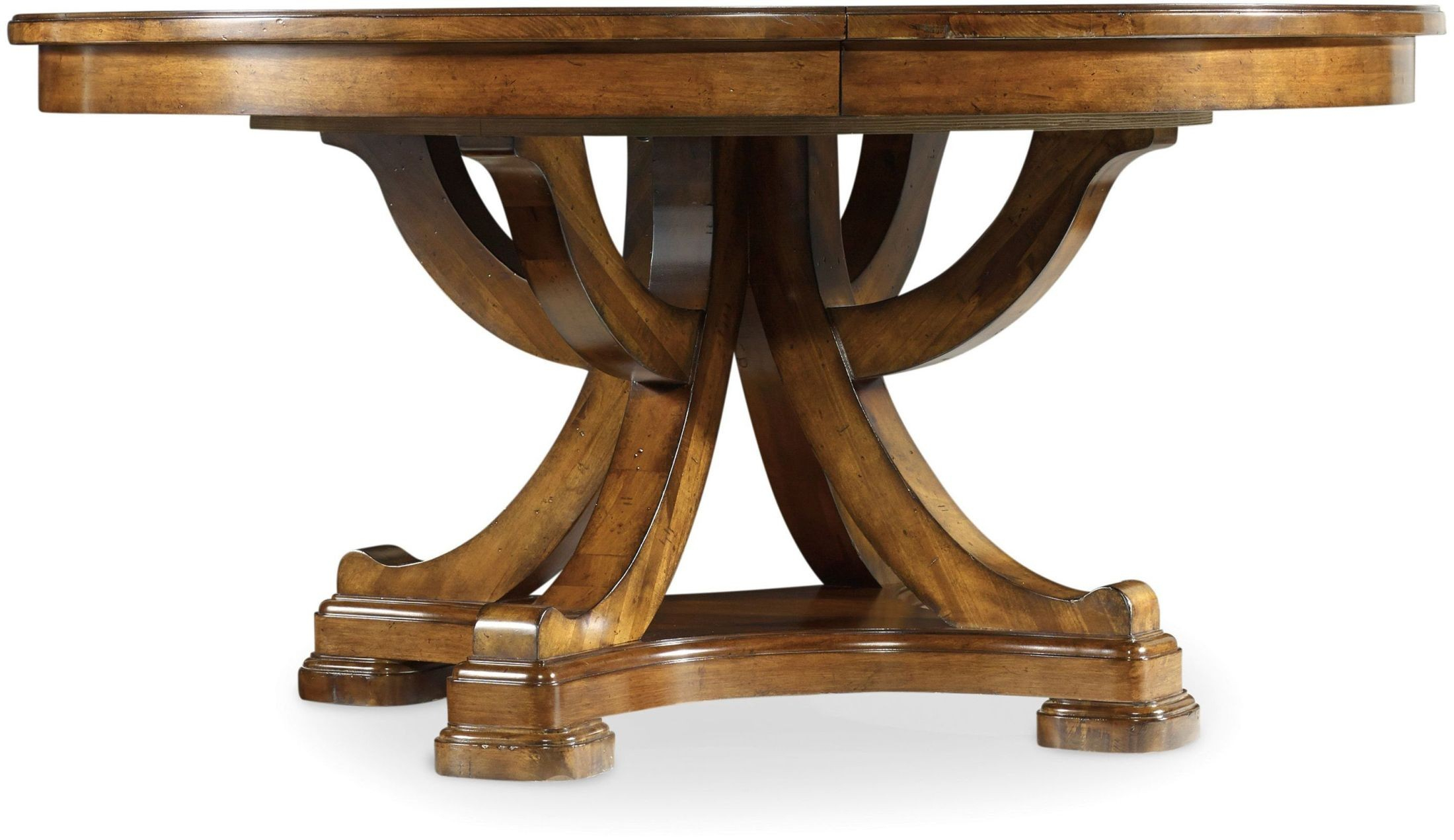 Tynecastle Brown Round Pedestal Extendable Dining Table Within Latest Sevinc Pedestal Dining Tables (View 14 of 15)