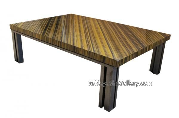 Unusual Specimen Tiger Eye Top Coffee Table With Wrought Pertaining To Newest Dellaney 35'' Iron Dining Tables (View 8 of 15)