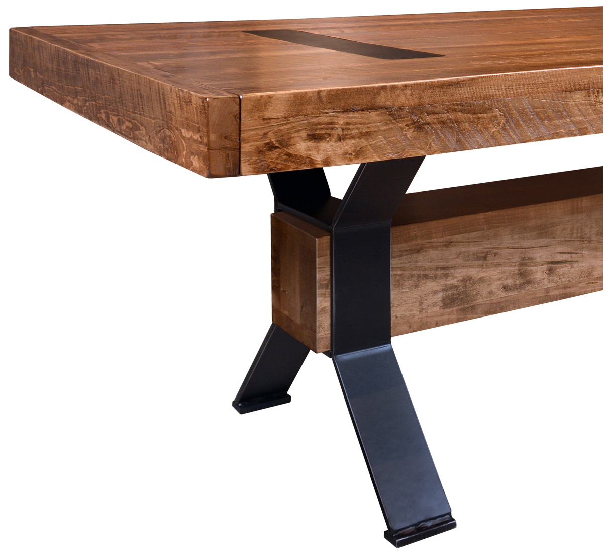 Up To 33% Off Arthur Philippe Rustic Table In Wormy Maple In Most Up To Date Gaspard Maple Solid Wood Pedestal Dining Tables (View 8 of 15)