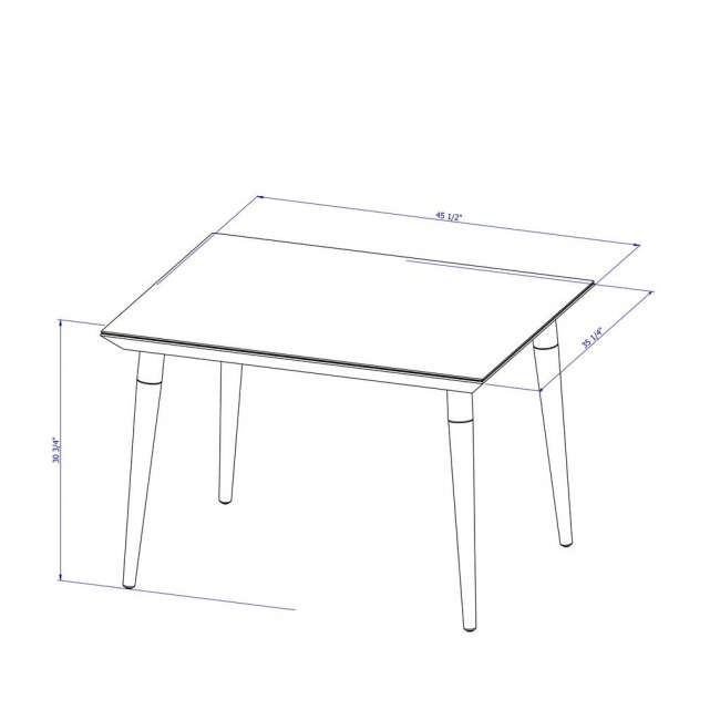 Utopia 47.24 Inch Modern Beveled Rectangular Dining Table Pertaining To Most Up To Date Gunesh  (View 4 of 15)