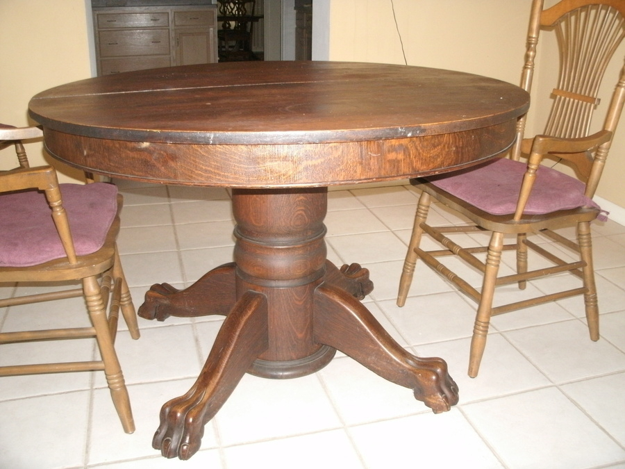 Value Of Antique Oak Tiger Claw Dining Table | My Antique In Recent 47'' Pedestal Dining Tables (View 4 of 15)