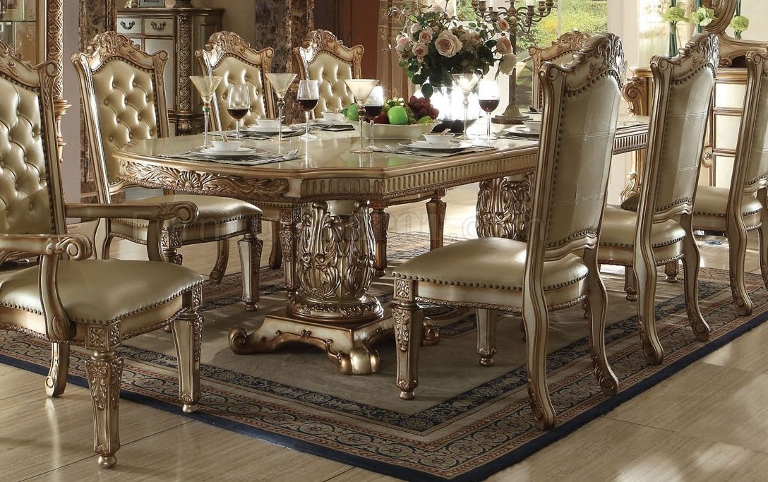 """Vendome Traditional Formal Double Pedestal 84"""" 120"""" Dining Within Best And Newest Classic Dining Tables (View 10 of 15)"""