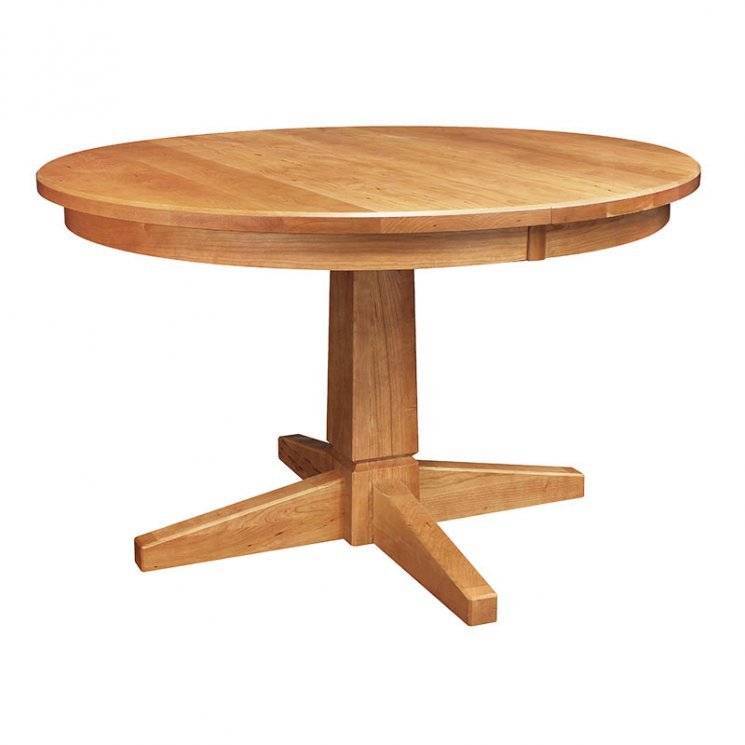 Vermont Single Pedestal Dining Table – Vermont Woods Studios Regarding Most Current Gaspard Extendable Maple Solid Wood Pedestal Dining Tables (View 9 of 15)