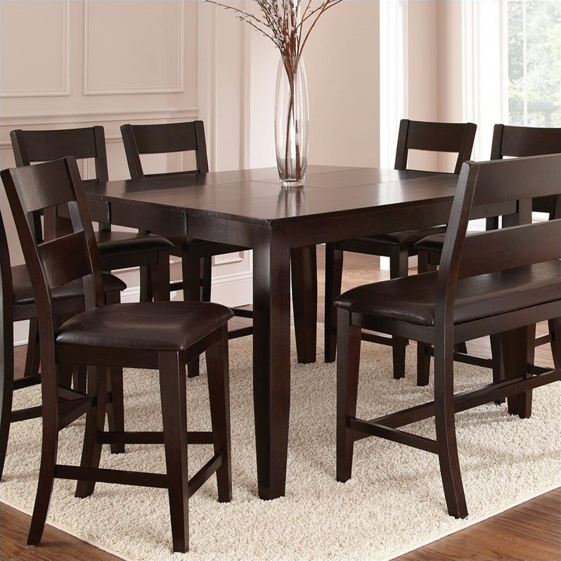 Victoria Solid Wood Counter Height Dining Table Butterfly For Newest Eduarte Counter Height Dining Tables (View 15 of 15)