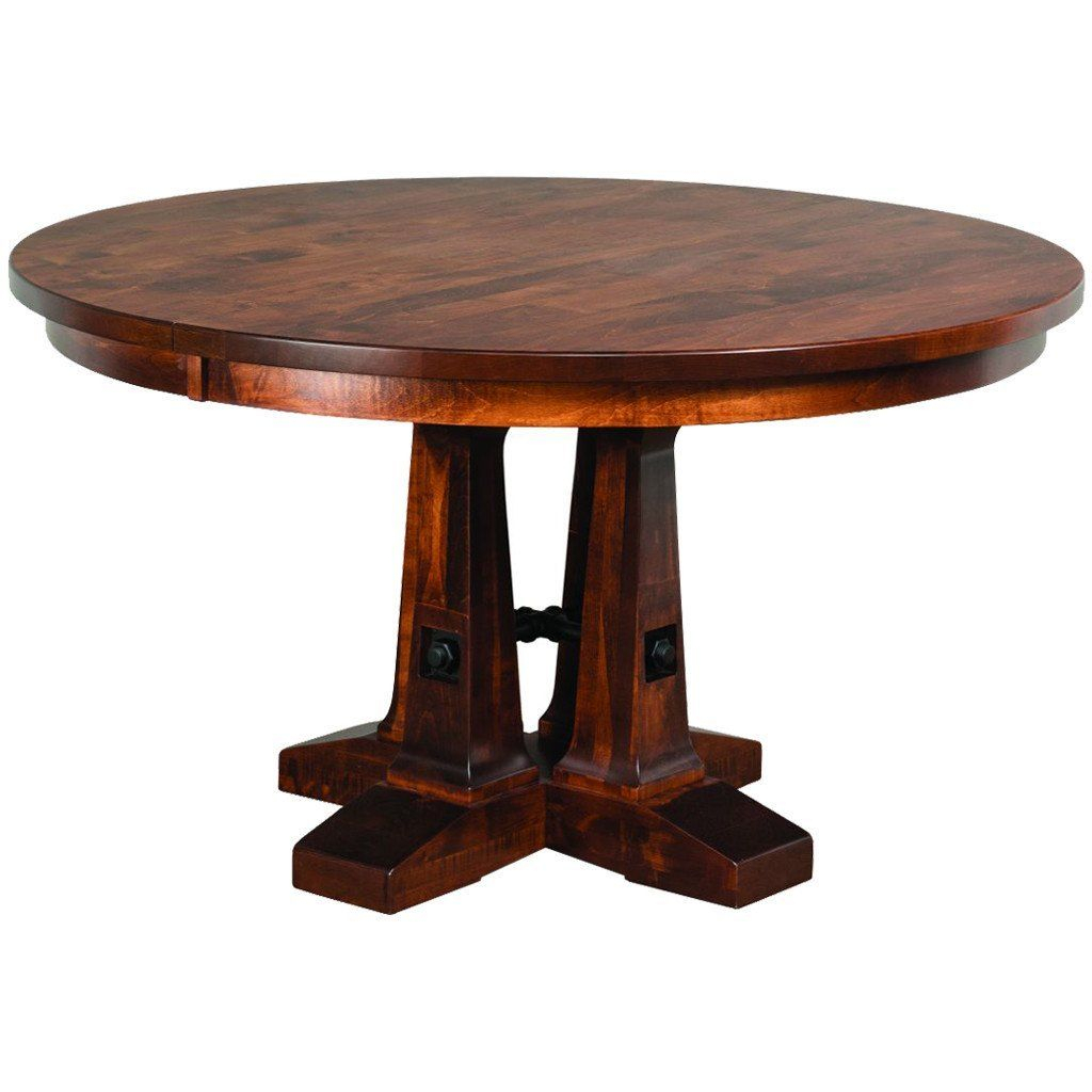 Featured Image of Gaspard Extendable Maple Solid Wood Pedestal Dining Tables
