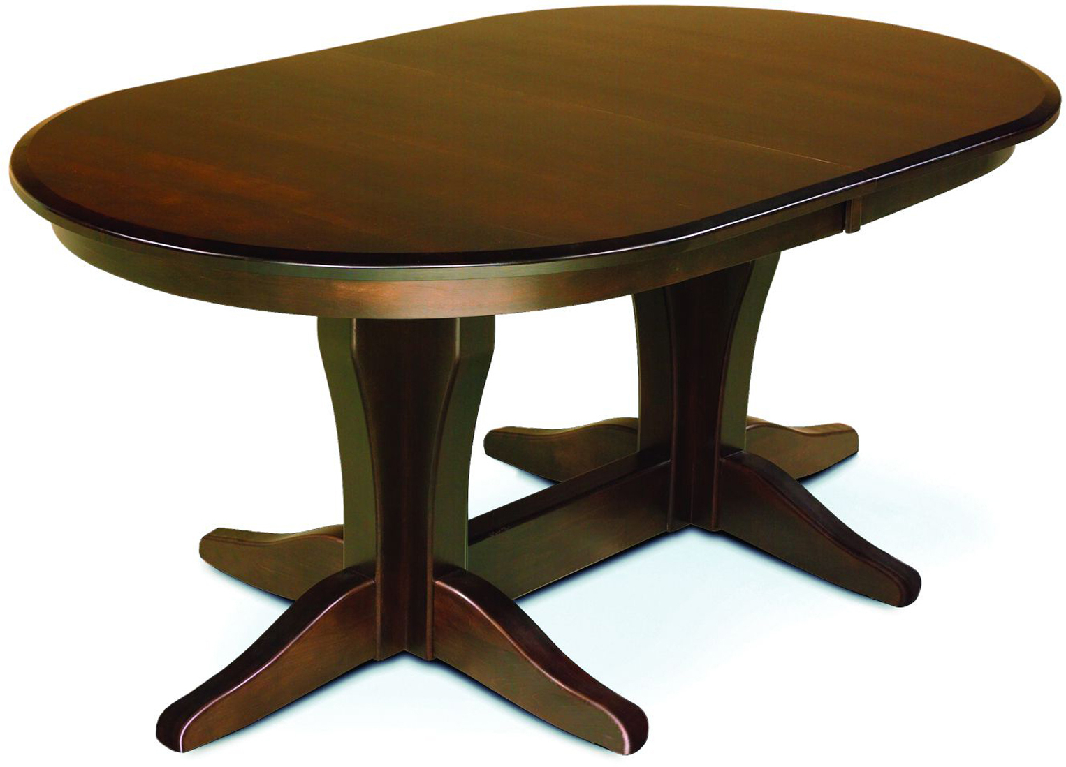 Vintage Double Pedestal Dining Table | Amish Double Pertaining To Most Up To Date Kirt Pedestal Dining Tables (View 2 of 15)