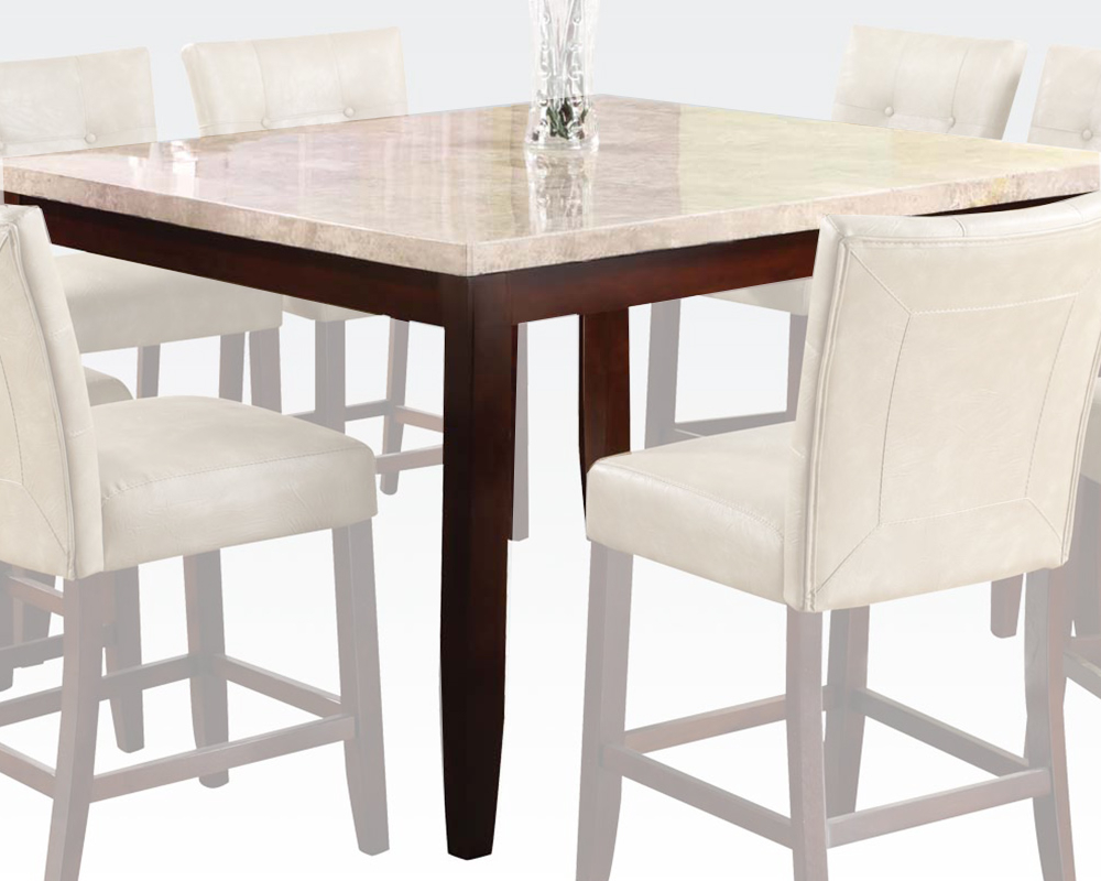 White Marble Counter Height Table Britneyacme Ac17059 Throughout Most Popular Counter Height Dining Tables (View 9 of 15)
