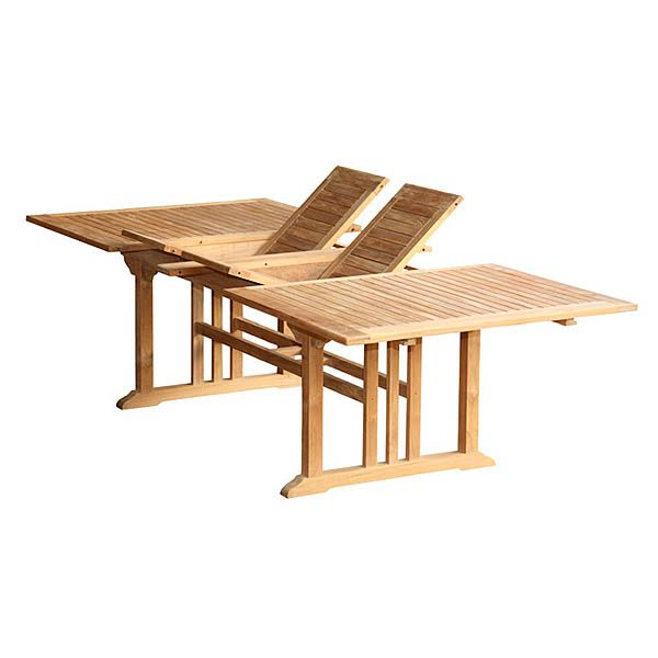 Wholesale Teak Furniture – Teak Rectangular Dining Table With Most Recent Aulbrey Butterfly Leaf Teak Solid Wood Trestle Dining Tables (View 7 of 15)