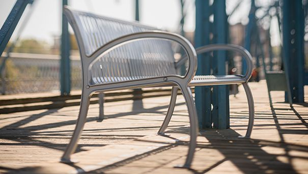 Wilmington Collection Park Bench | Slat Pattern | Belson Regarding Most Current Mode Breakroom Tables (View 8 of 15)