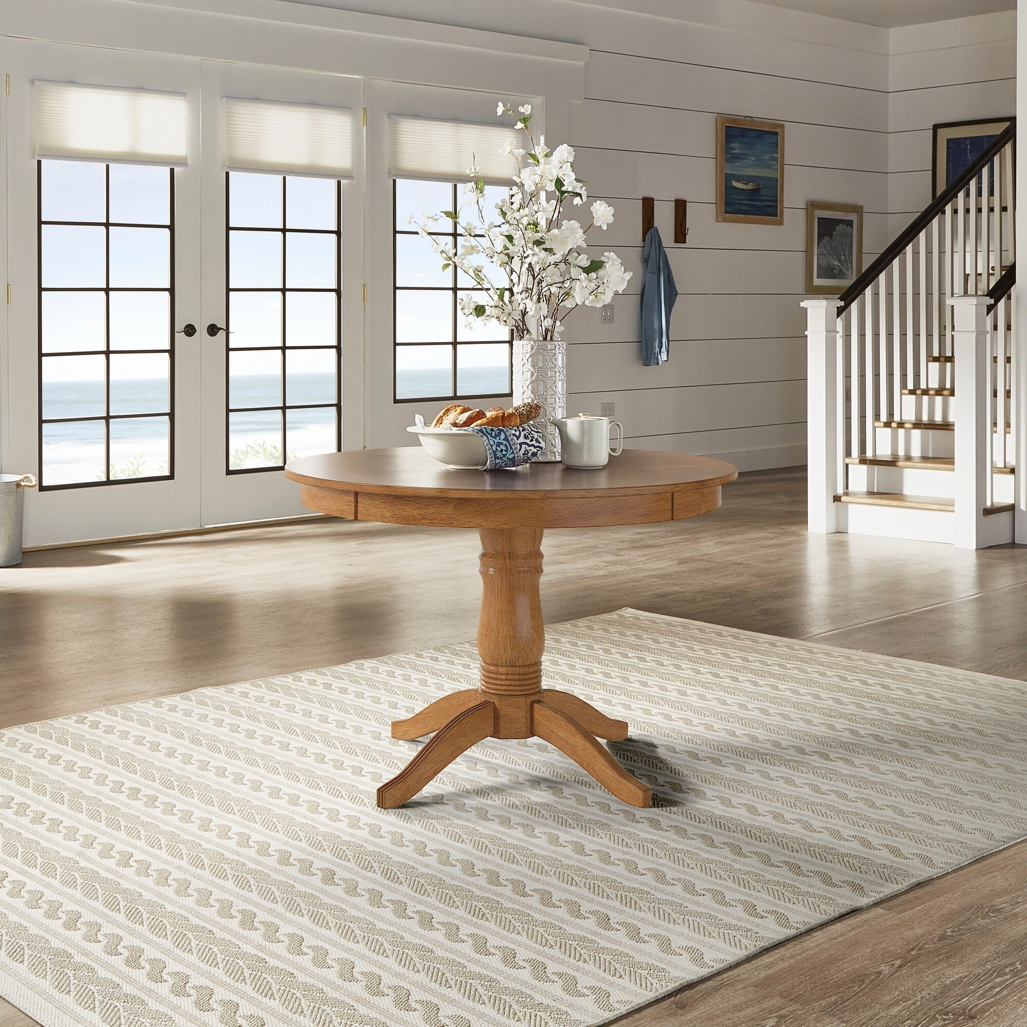 Wilmington Ii Round Pedestal Base Dining Tableinspire Regarding Most Recently Released Corvena 48'' Pedestal Dining Tables (View 5 of 15)