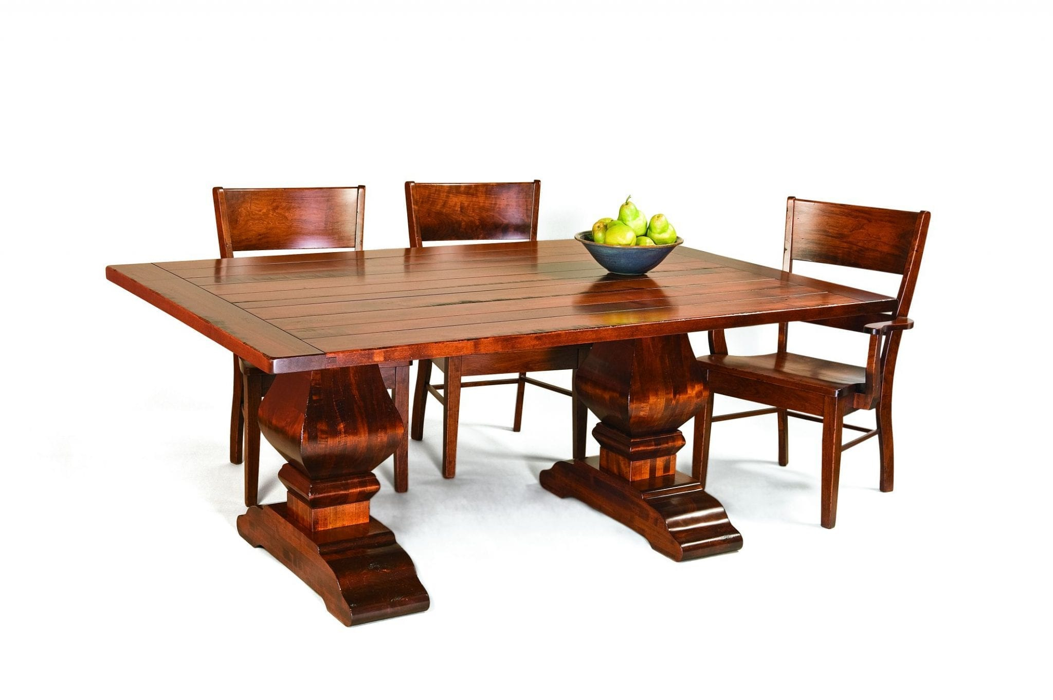 Wilmington Trestle Amish Dining Table | Kvadro Furniture Inside Most Recently Released Haddington 42'' Trestle Dining Tables (Photo 12 of 15)