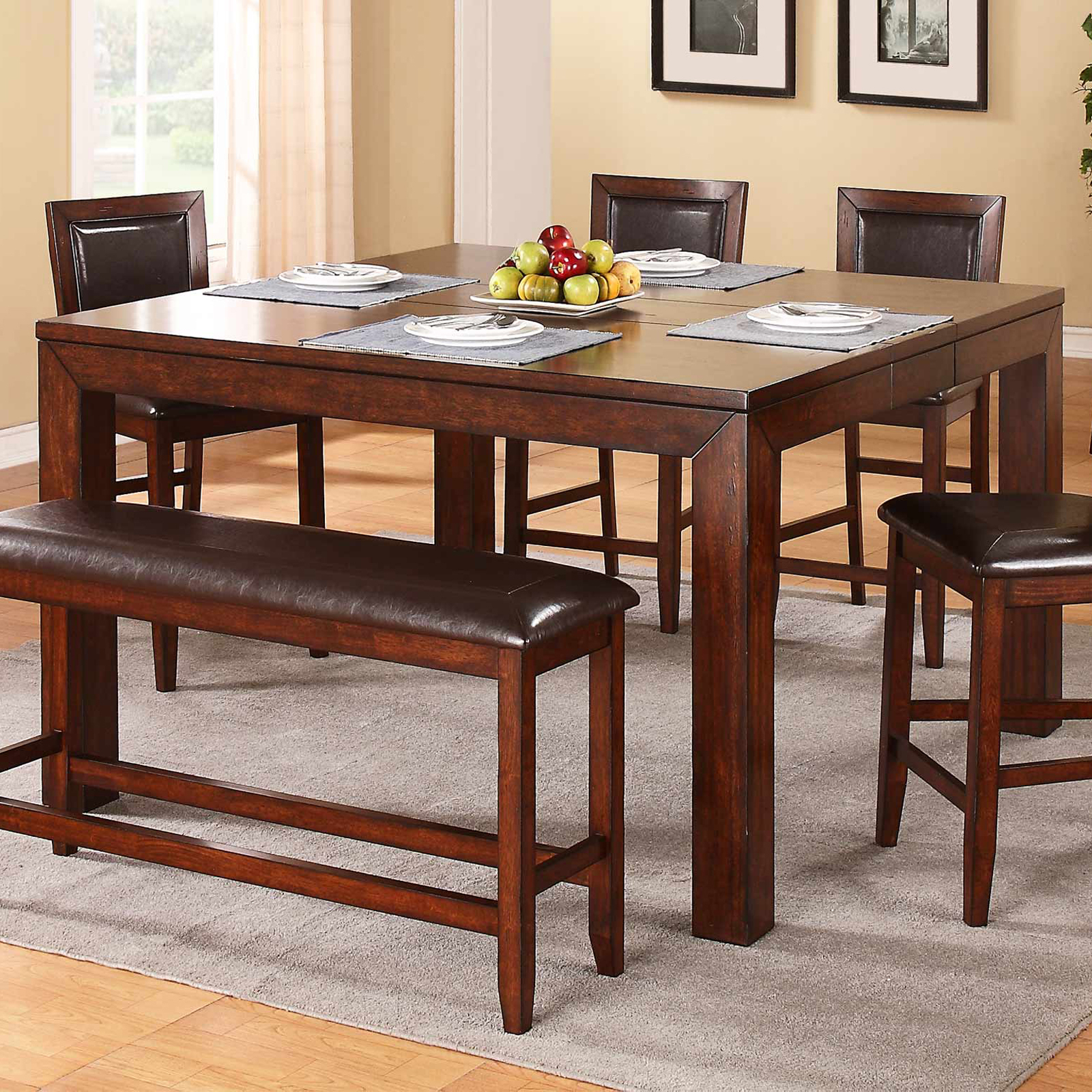 Winners Only Fallbrook Counter Height Dining Table With 12 Regarding Most Recent Warnock Butterfly Leaf Trestle Dining Tables (View 2 of 15)